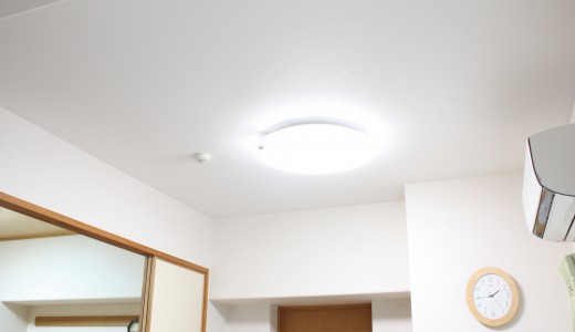 一人暮らしで天井に照明器具がついていない方へ!おすすめはLED照明